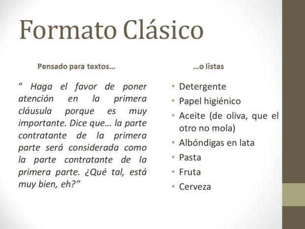 Formato Clásico